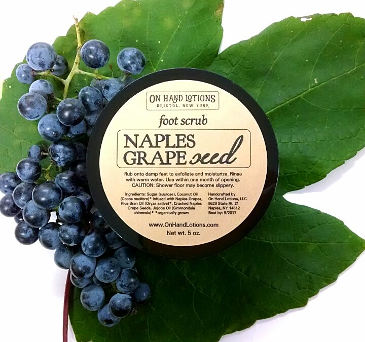 Introducing Naples Grape Seed Scrub