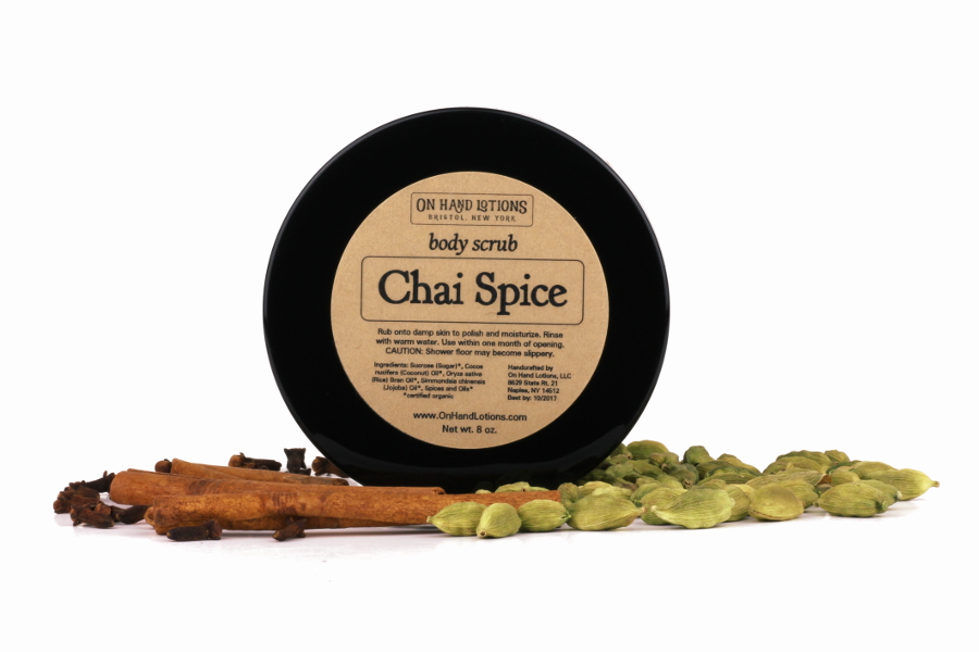 Chai. Spice. Scrub. Yes, please.