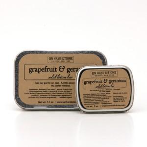 Lotion Bar Tins GrapefruitGeranium