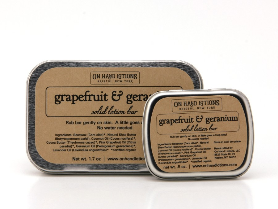 NEW: Grapefruit & Geranium Lotion Bars!