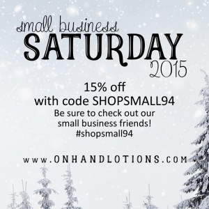 Black Friday - Small Business Saturday Special