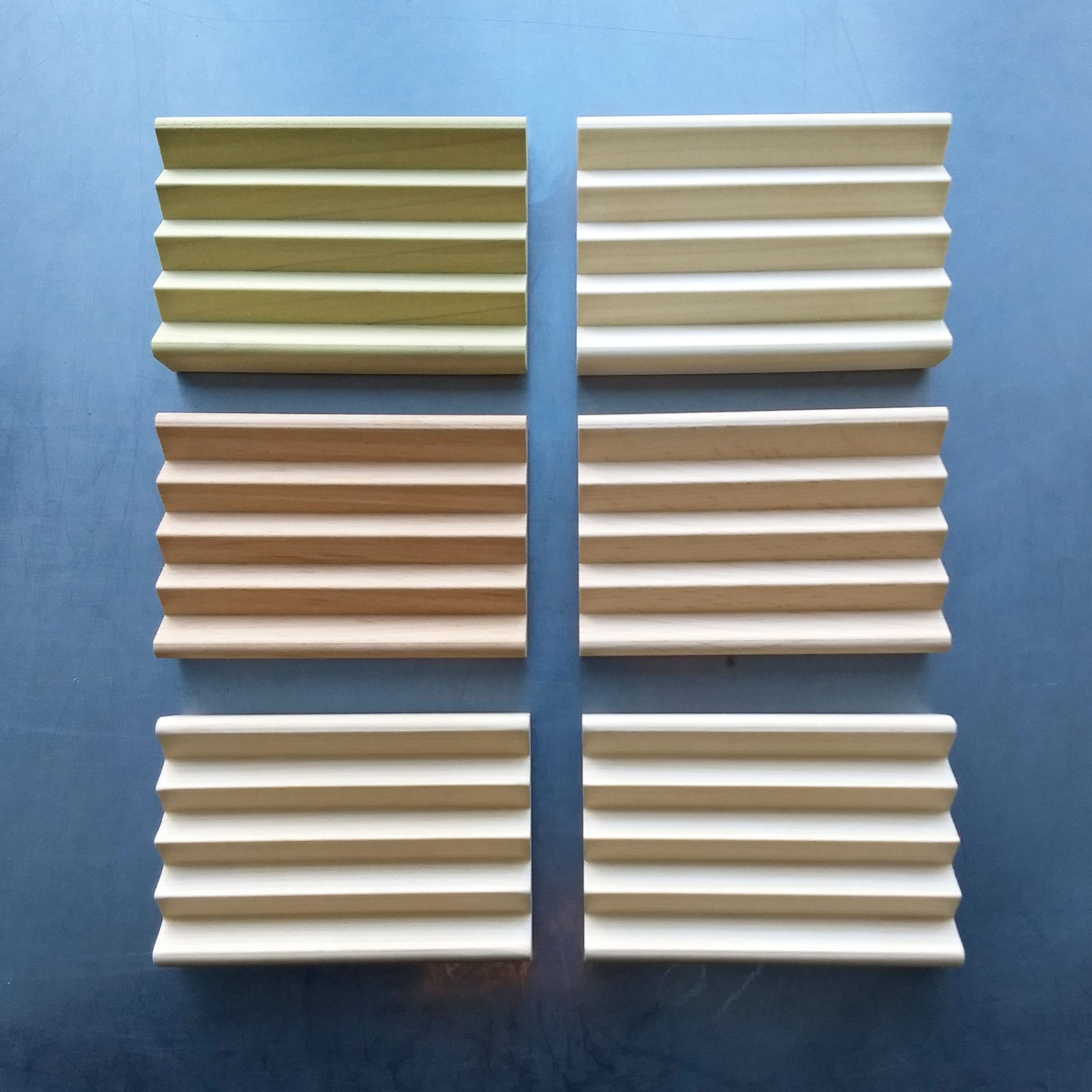 zigzag style soap dishes